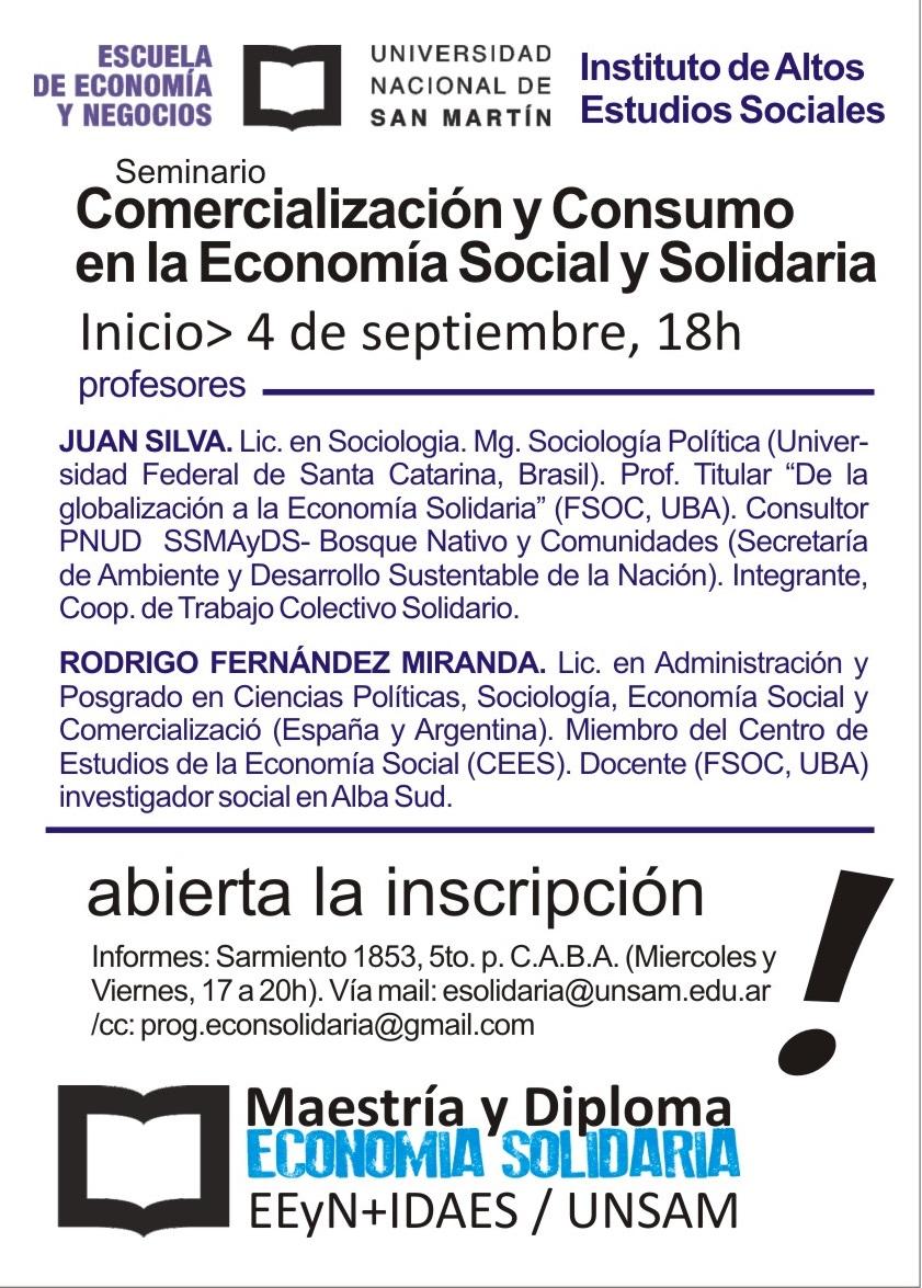 Comercialización y consumo en el marco de la Economía Social y ...