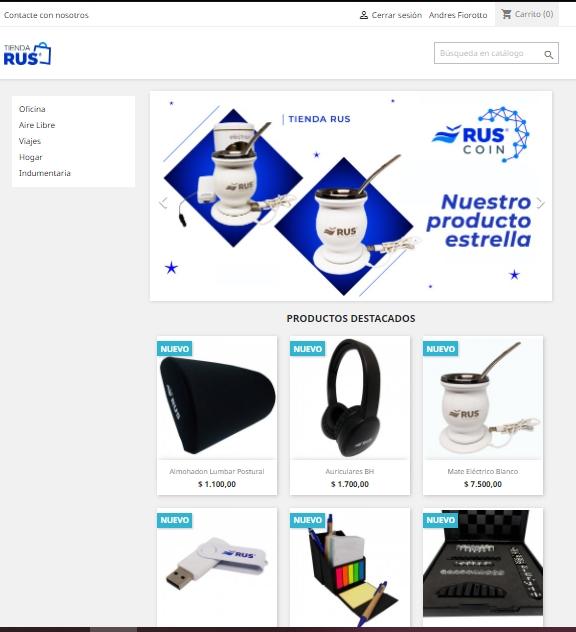 Productos de la Tienda RUS